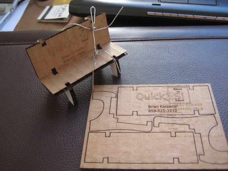 Recycled Cardboard Business Cards - Fab Lab Wiki - by NMÍ Kvikan